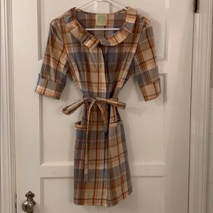Plaid shirt dress from Anthropology
